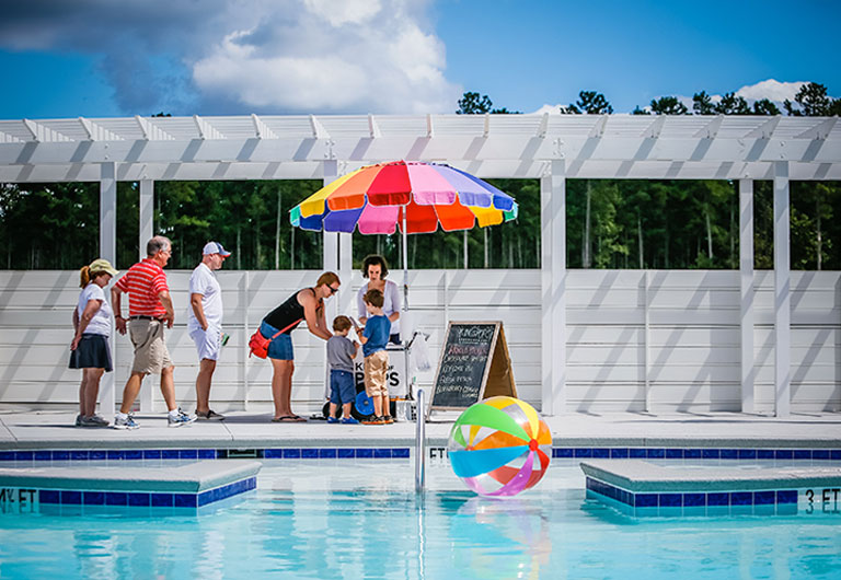 The Pool by New Summer's Corner Homes