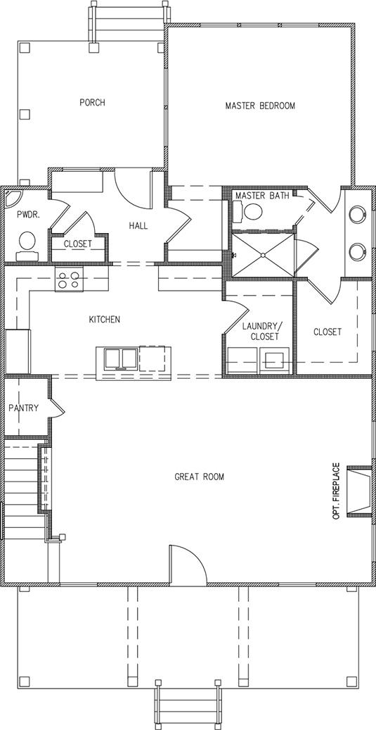 Aspen Plan a Saussy Burbank First Floor Plan Near Charleston, SC