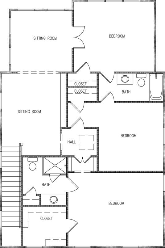 Aspen Plan a FrontDoor Communities Second Floor Plan near Charleston, SC
