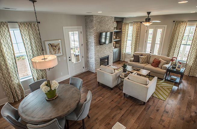 Azalea Plan a FrontDoor Communities Living Room View in Summerville, SC