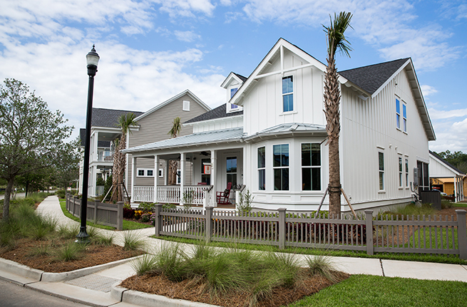 Camelia Plan a Sabal Homes Side of House View in Summerville, SC