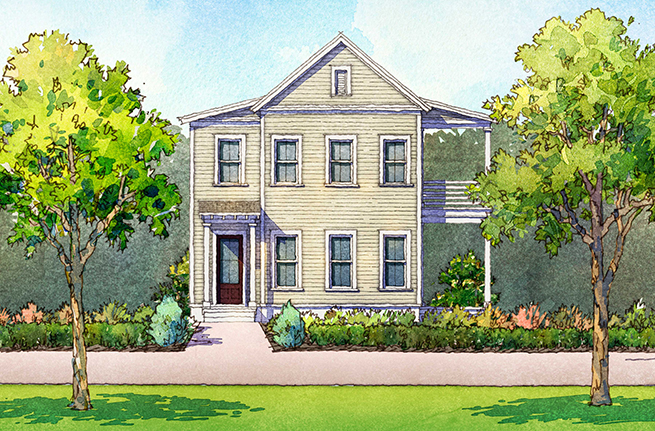 Dahlia Plan a FrontDoor Communities House Drawing in Summerville, South Carolina