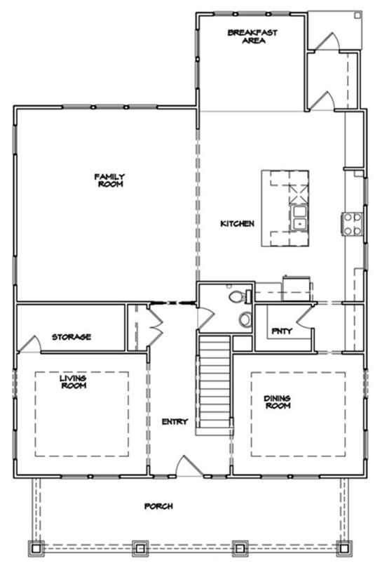 Del Mar Plan a Dan Ryan Builders First Floor Plan Near Charleston, SC