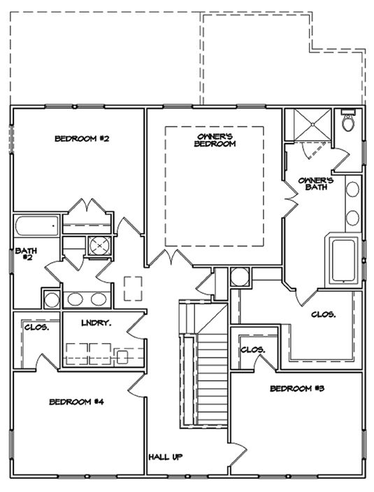 Del Mar Plan a Dan Ryan Builders Second Floor Plan near Charleston, SC