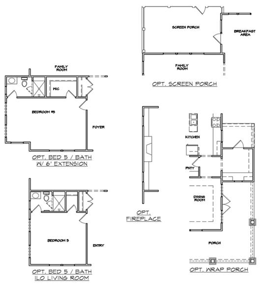 Del Mar Plan a Dan Ryan Builders Options Plan near Charleston, SC