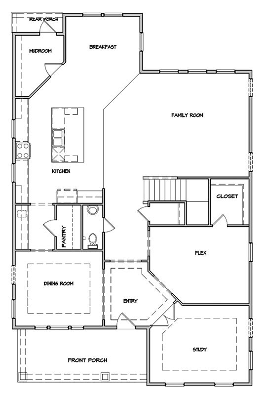 Keeneland Plan a Dan Ryan Builders First Floor Plan in Summervile, SC
