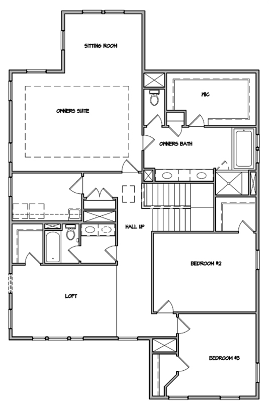 Keeneland Plan a Dan Ryan Builders Second Floor Plan in Summerville, SC