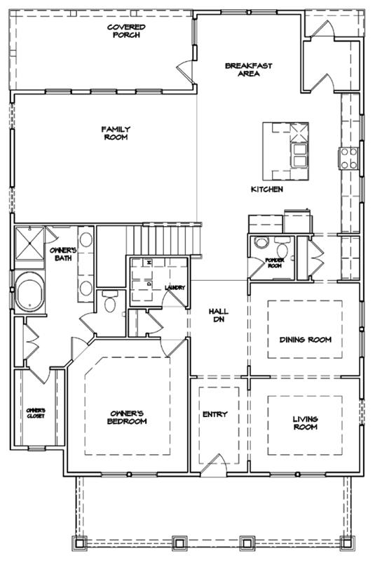 Preakness Floor Plan - New Homes for Sale in Summerville, SC First Floor