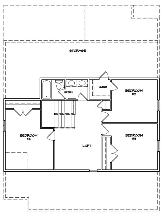 Preakness Floor Plan - New Homes for Sale in Summerville, SC Second Floor