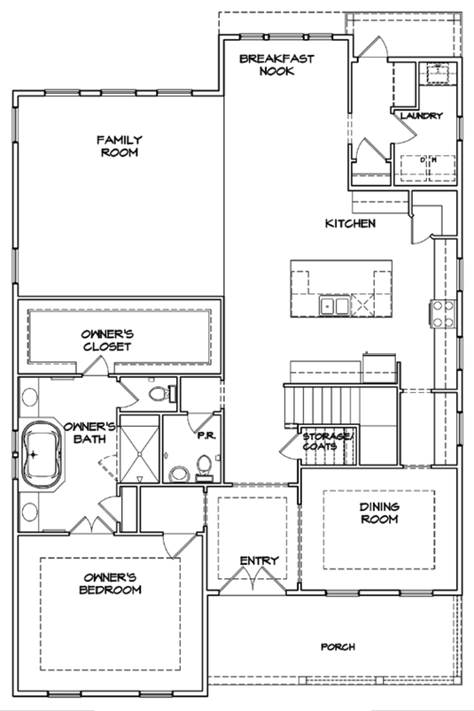 Rosecroft Plan a Dan Ryan Builders First Floor Plan near Charleston, SC