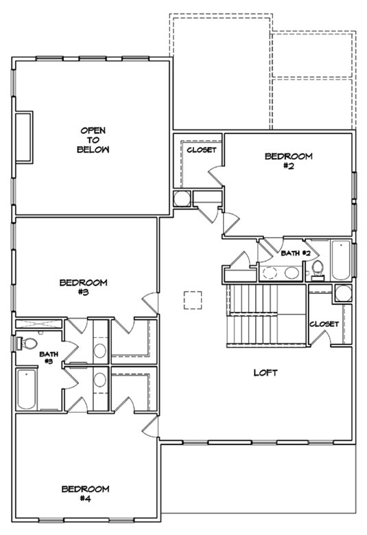 Rosecroft Plan a Dan Ryan Builders Second Floor Plan near Charleston, SC