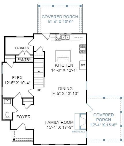 Azalea Plan a FrontDoor Communities First Floor Plan in Summervile, SC