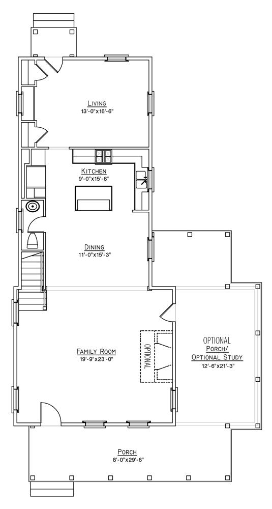 Daisy Plan a FrontDoor Communities First Floor Plan in Summervile, SC