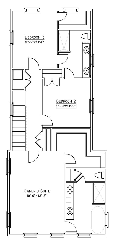 Daisy Plan a FrontDoor Communities Second Floor Plan in Summerville, SC