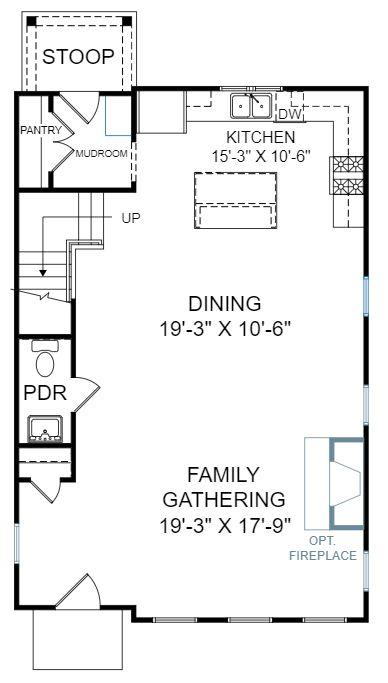 Dogwood Plan a FrontDoor Communities First Floor Plan in Summervile, SC
