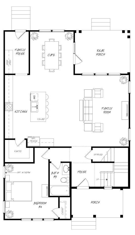 Golden Bell Plan a Saussy Burbank First Floor Plan in Summerville, South Carolina