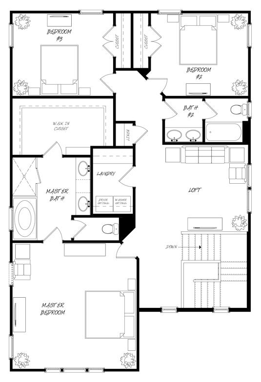 Golden Bell Plan a Saussy Burbank Second Floor Plan in Summerville, South Carolina