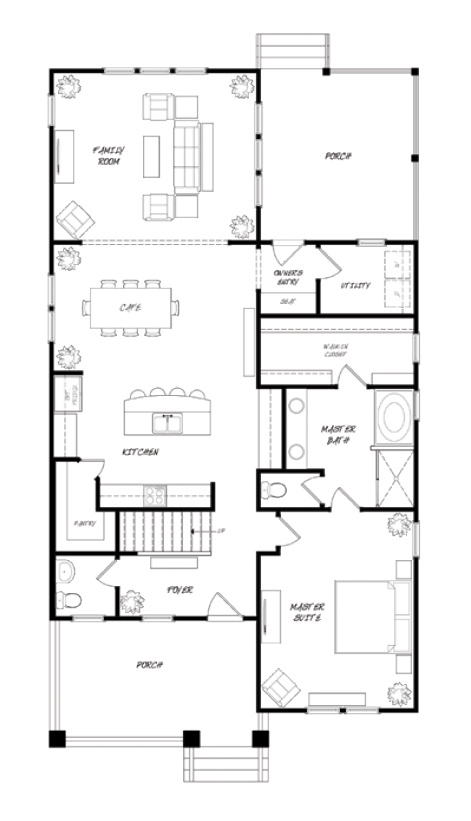 Camelia Plan a Sabal Homes First Floor Plan in Summervile, SC
