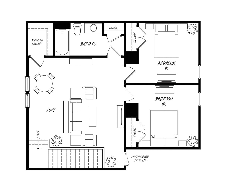 Camelia Plan a Sabal Homes Second Floor Plan in Summerville, SC