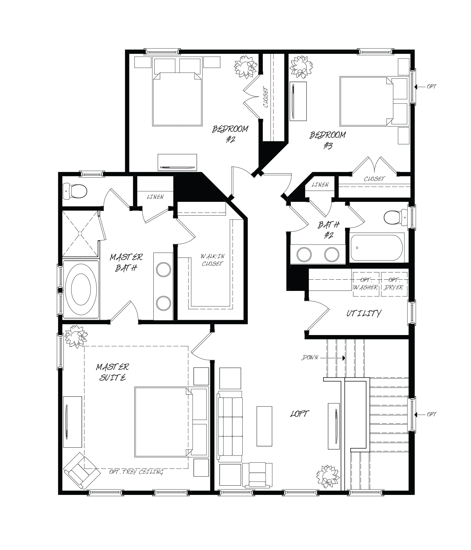 Nandina Plan a Sabal Homes Second Floor Plan in Summerville, SC