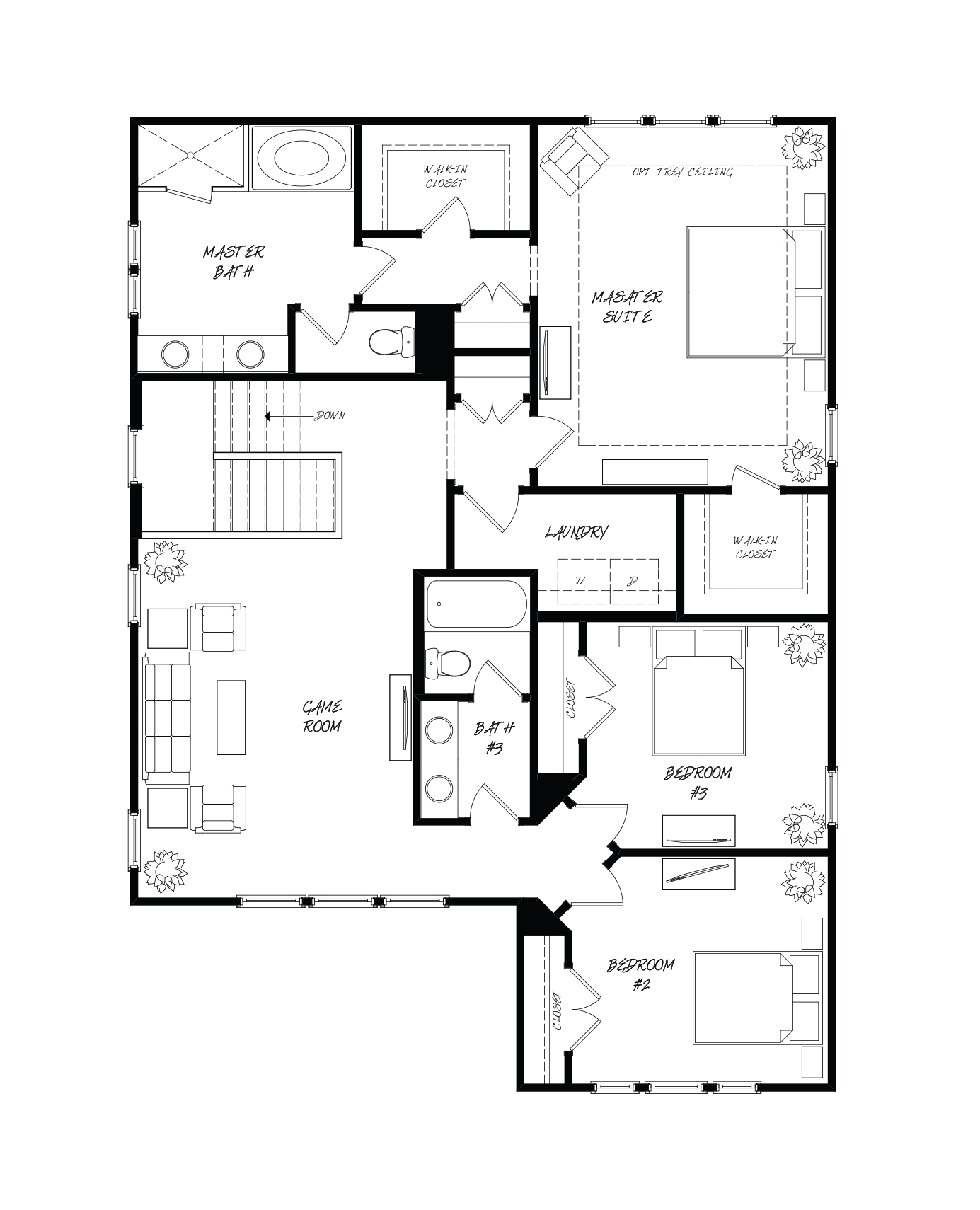 Tea Olive Plan a Sabal Homes Second Floor Plan near Charleston, SC