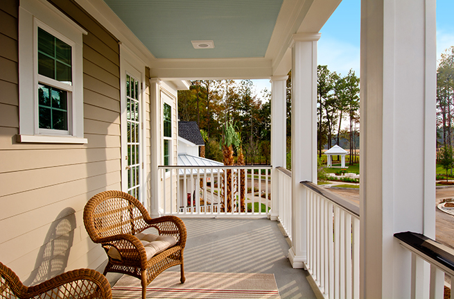 Firethorn Plan a Sabal Homes Patio View near Charleston, SC
