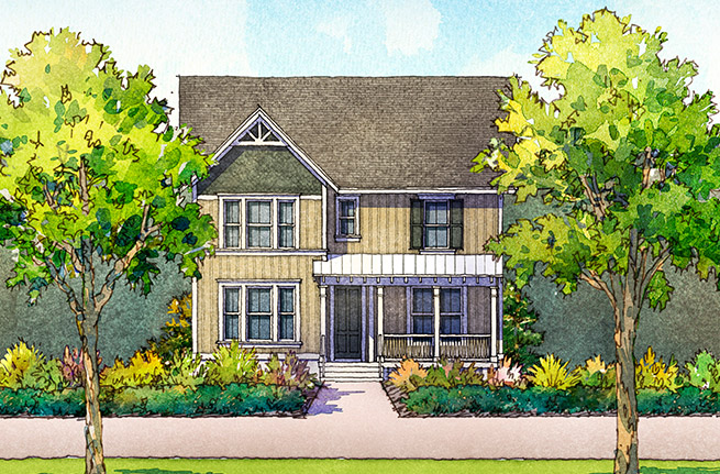 Firethorn Plan a Sabal Homes House Drawing near Charleston, SC