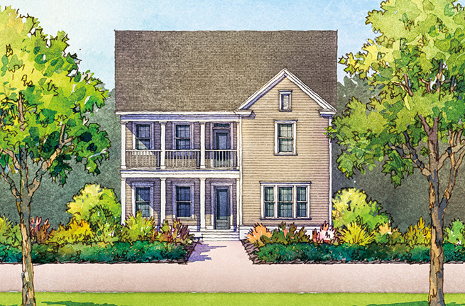 Keeneland Plan a Dan Ryan Builders House Drawing in Summerville, SC