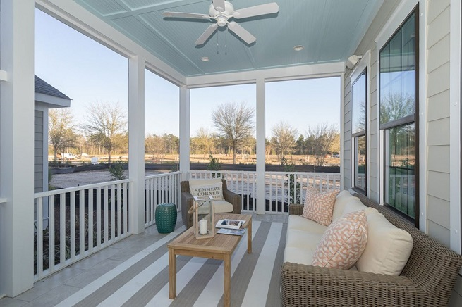 Keeneland Plan a Dan Ryan Builders Patio View in Summerville, SC