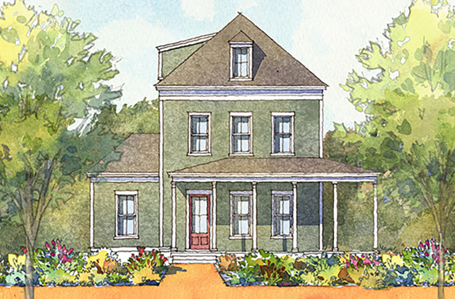 Magnolia Plan a FrontDoor Communities House Drawing near Charleston, SC