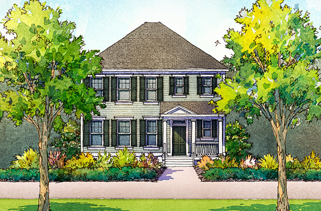 Nandina Plan a Sabal Homes House Drawing in Summerville, SC