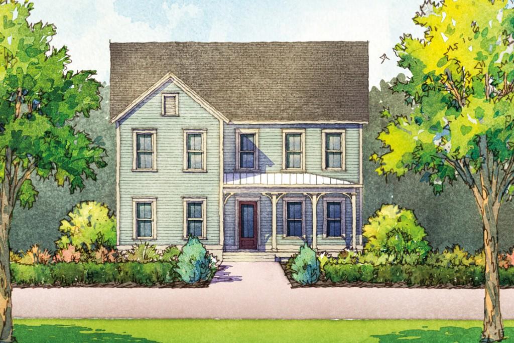 Rosecroft Plan a Dan Ryan Builders House Drawing near Charleston, SC