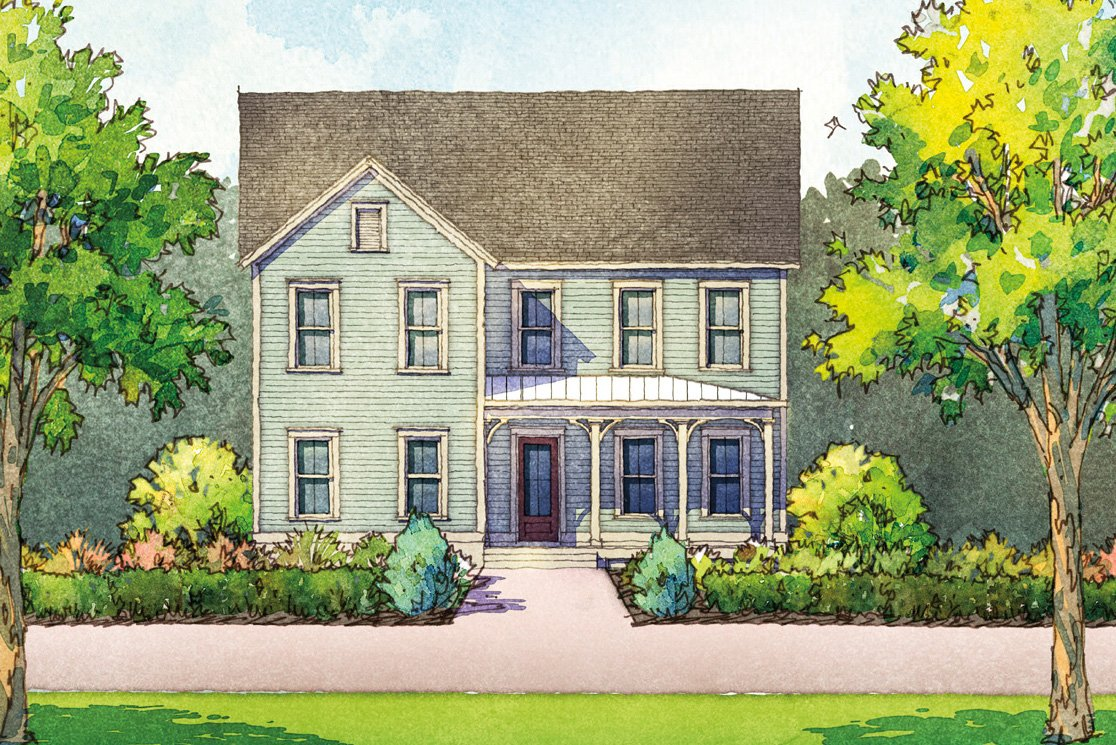 Rosecroft Plan a Dan Ryan Builders House Drawing near Charleston, SC