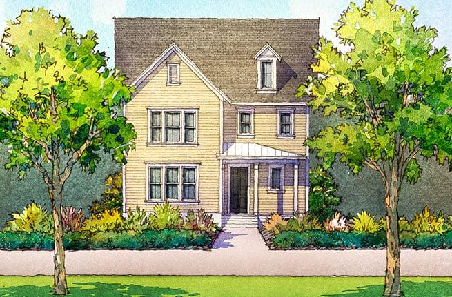 Golden Bell Plan a Saussy Burbank House Drawing in Summerville, South Carolina