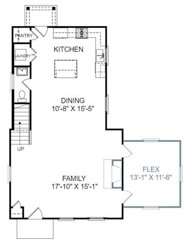 Gardenia Plan a Saussy Burbank First Floor Plan in Summervile, SC