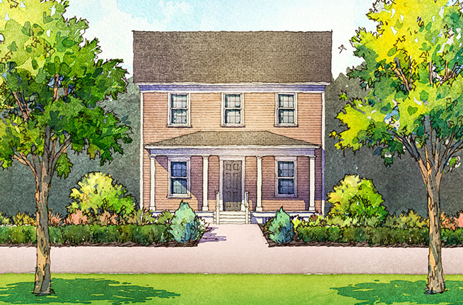Aspen Plan a Saussy Burbank House Drawing near Charleston, SC
