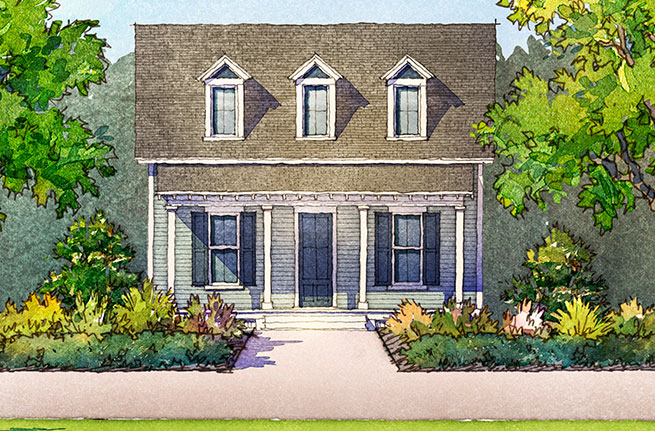 Cottonwood Plan a FrontDoor Communities House Drawing near Charleston, SC