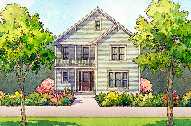 Carolina Cherry Plan by Sabal Homes, New Homes in Summerville