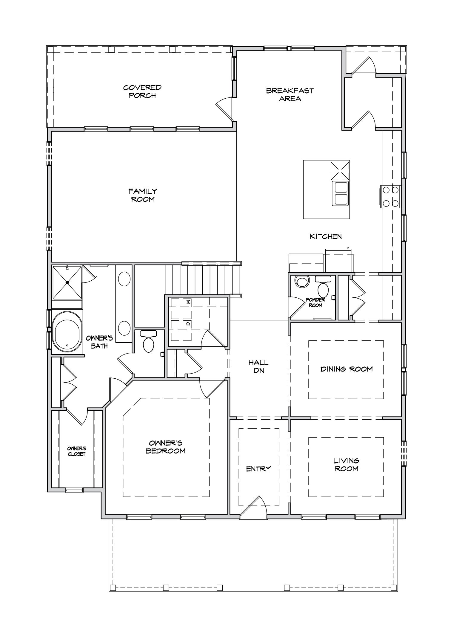 Preakness II Plan a Dan Ryan Builders First Floor Plan near Charleston, SC