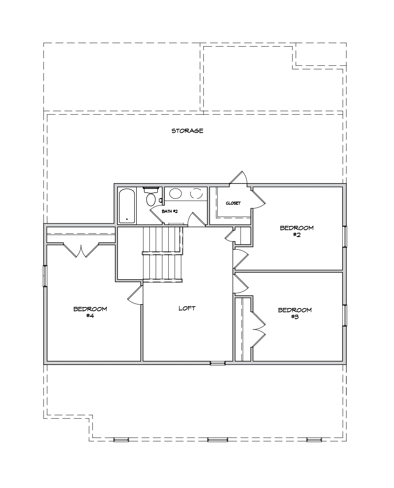 Preakness II Plan a Dan Ryan Builders Second Floor Plan near Charleston, SC