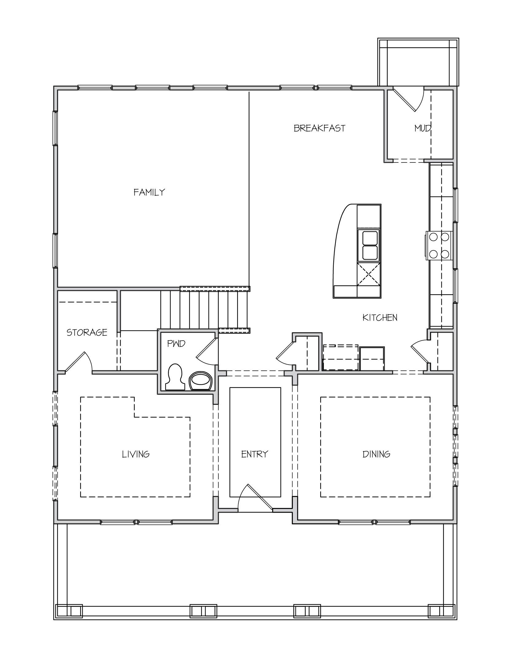 Rockingham II Plan a Dan Ryan Builders First Floor Plan in Summerville, SC