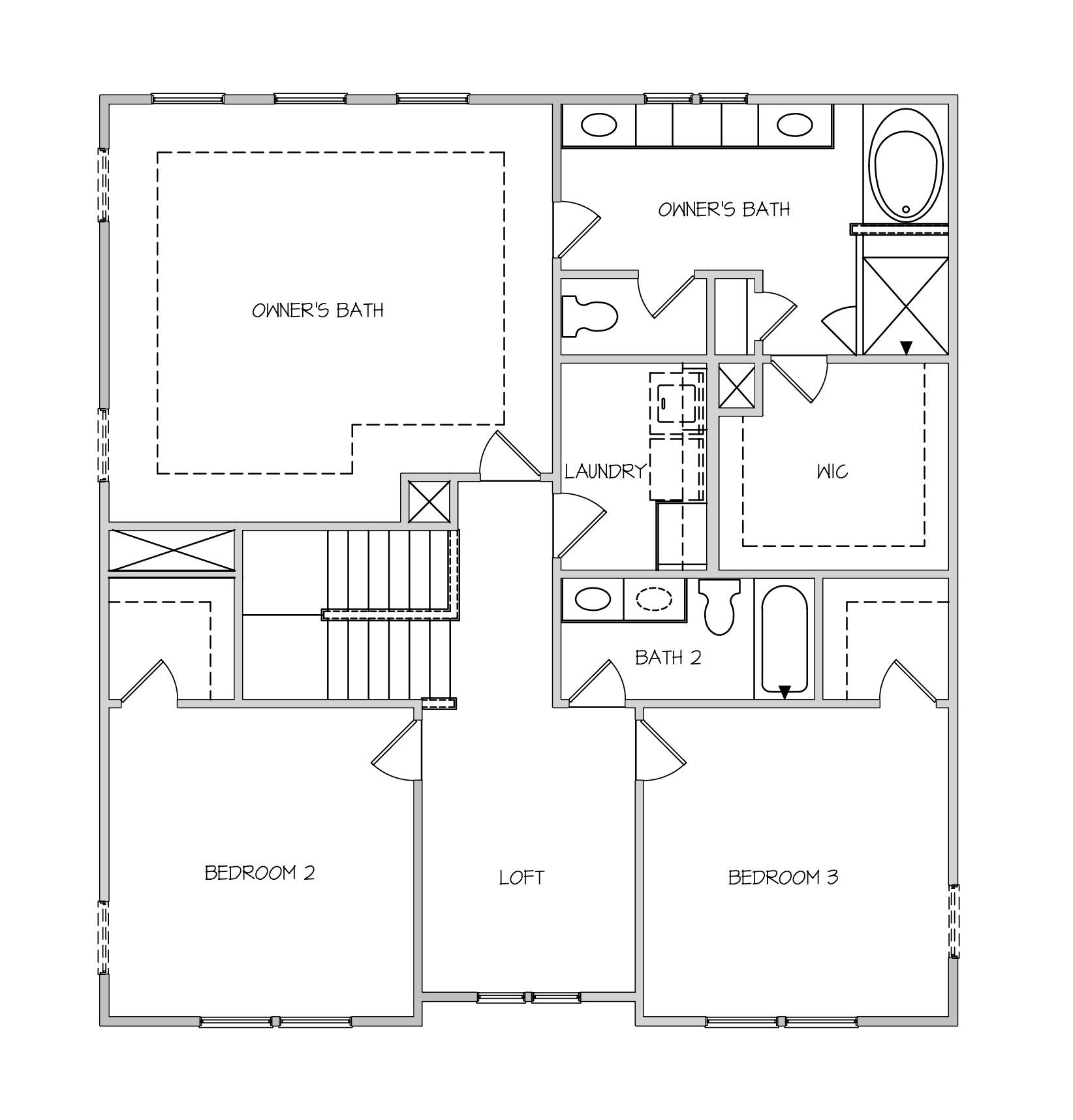 Rockingham II Plan a Dan Ryan Builders Second Floor Plan in Summerville, SC
