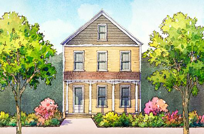 Honeysuckle Plan a Dan Ryan Builders House Drawing near Charleston, SC