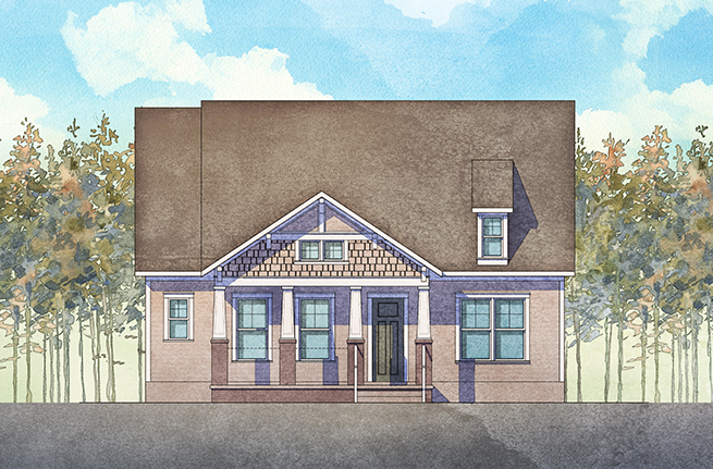 Pimlico II Plan a Dan Ryan Builders House Drawing in Summerville, South Carolina