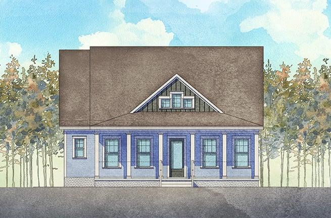 Pimlico II Plan a Dan Ryan Builders House Drawing in Summerville, South Carolina