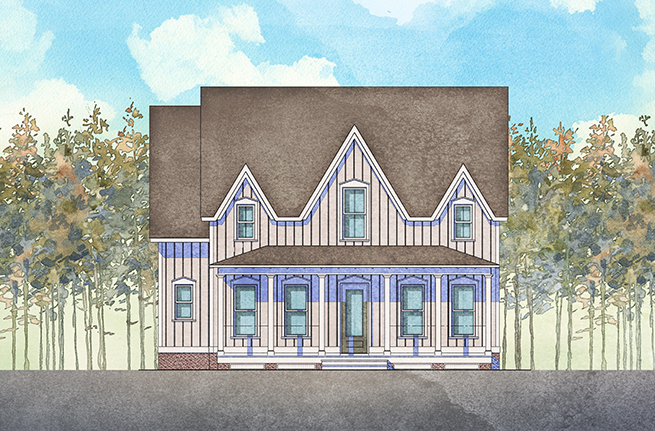 Preakness II Plan a Dan Ryan Builders House Drawing near Charleston, SC