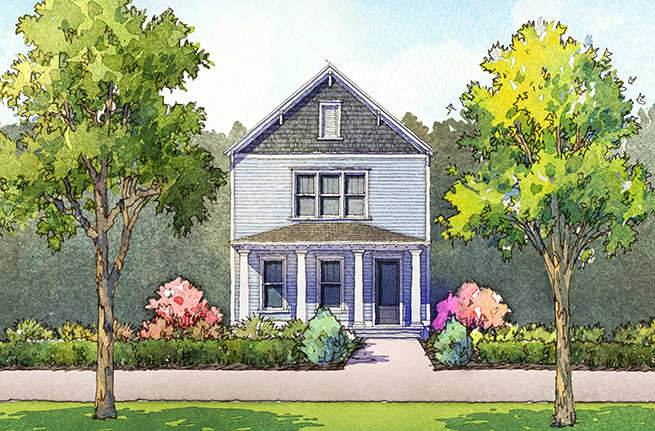 Honeysuckle Plan by Saussy Burbank, New Homes in South Carolina