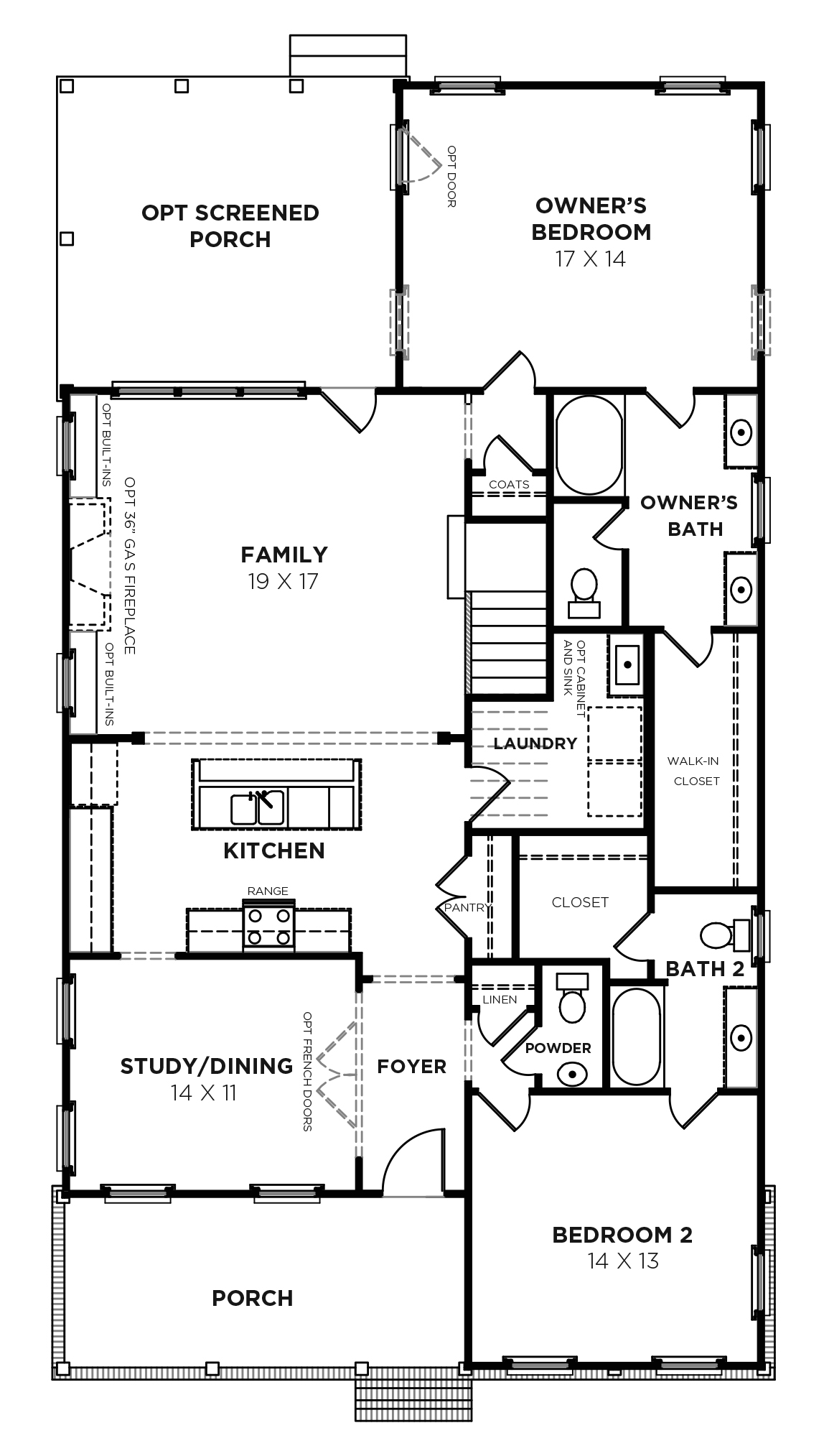 Hydrangea Plan a Dan Ryan Builders First Floor Plan in Summervile, SC