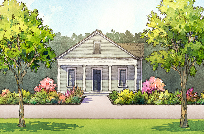134 Canopy Way a Saussy Burbank Home Drawing in Summerville, South Carolina
