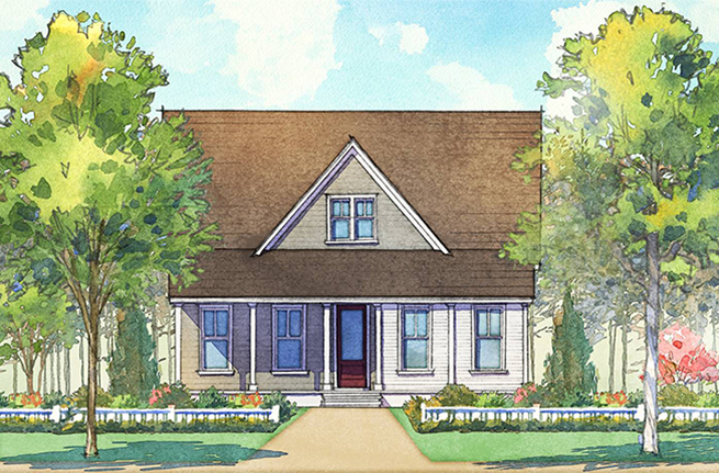Hydrangea Plan a Dan Ryan Builders House Drawing in Summerville, SC